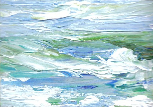 Summer Waves At Sea by Cricket Diane C Phillips - Cricket House Studios - 2008