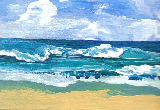 Sea Waves At Play by Cricket Diane C Phillips - CricketHouseStudios - 2008