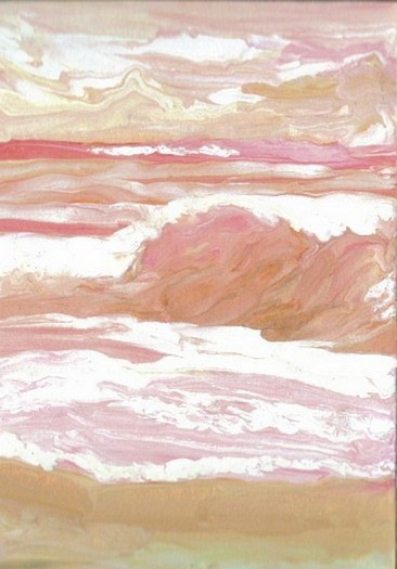 Rosy Sunset Sea by Cricket Diane C Phillips - Cricket House Studios - 2008