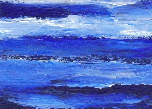 Magic Deep Blue Sea - by Artist Cricket Diane C. Phillips - February 2008