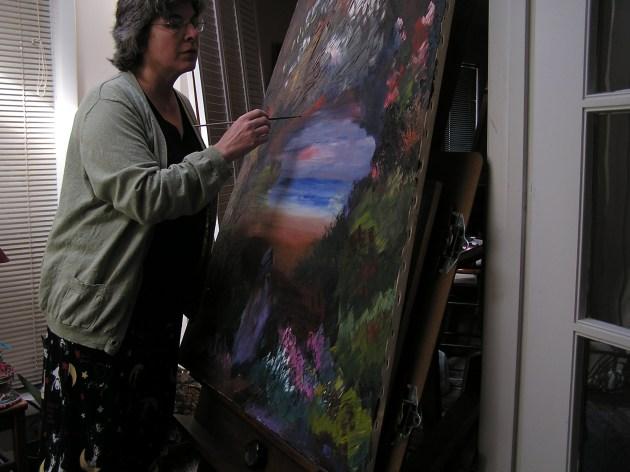 Cricket Diane C Phillips - CricketHouseStudios - Artist At Work