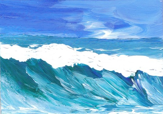 Emotion Rich Ocean Painting Cricket Diane Day At The