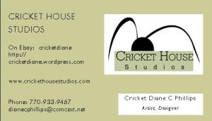 2008 Business Card - Cricket House Studios