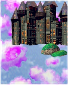 Castle in the Sky - digital art by cricket diane c phillips - 2008
