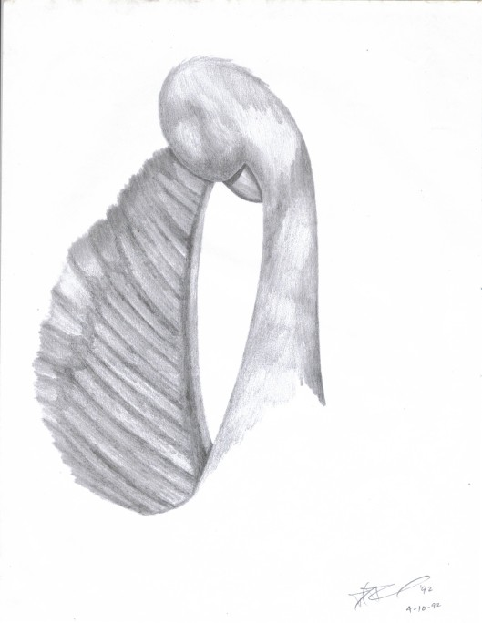 The Black Swan - drawing by Cricket Diane C Phillips