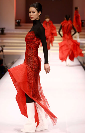 China International Fashion Week (2009/2010 autumn/winter series) opened in Beijing, capital of China, March 24, 2009