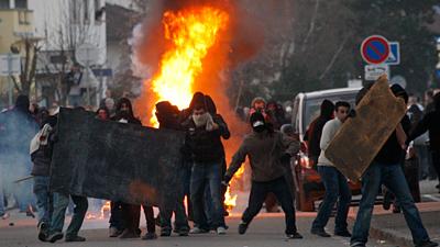 Strasbourg Riots - NATO meeting - April 03-09 - from SkyNews, UK