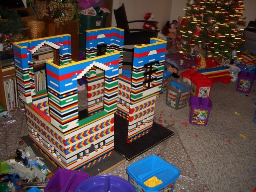 cricketdiane - Lego playhouse as I was building it last Christmas - an art thing by Cricket Diane C Phillips