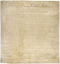 Bill of Rights - from wikipedia entry