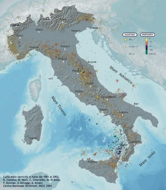 http://emergenza.ingv.it/ - earthquake map - Italy