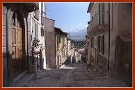L'Aquila Italy street from Hotel website - Hotel San Michele, L'Aquila