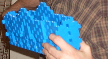 cricketdiane - ocean baffle design for possible ocean wave electricity generating by Cricket Diane C Phillips 2008 - taken apart for Lego house
