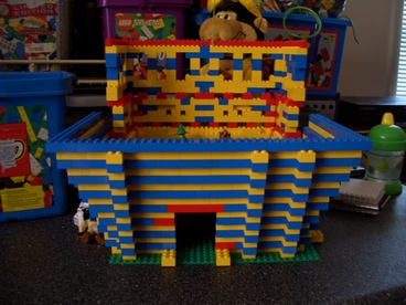 cricketdiane - joint Lego amphitheater project by Amanda and Diane in 2008 - taken apart for Lego playhouse