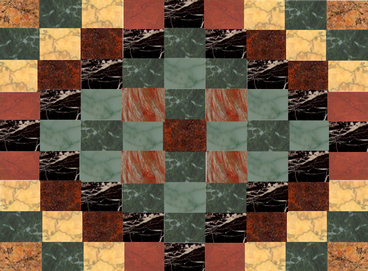 cricketdiane - 2006 - marble flooring design 2 - created using digital collage - computer art