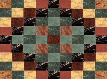 cricketdiane - 2006 - marble flooring design 2 - created using digital collage - computer art