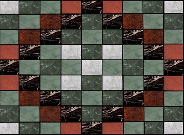 cricketdiane - Marble flooring design - and letterhead corner - digital collage computer art / design - 2006