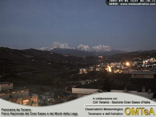 GRAN SASSO DA TERAMO - Cona(300 m.) www.meteoteramo.it