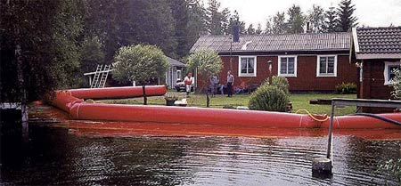 Nauticart water-filled flood control barrier tubes - http://www.noaq.com/