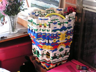 cricketdiane - Lego castle built by Cricket Diane C Phillips - 2006 - taken apart for Lego playhouse
