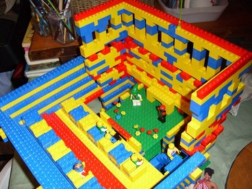cricketdiane and Amanda built this Lego amphitheater - taken apart for Lego Playhouse - 2008