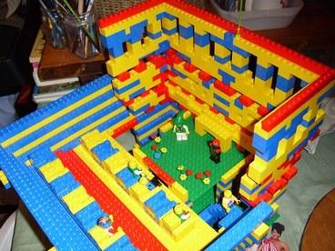 cricketdiane and Amanda built this Lego amphitheater - taken apart for Lego Playhouse - 2008