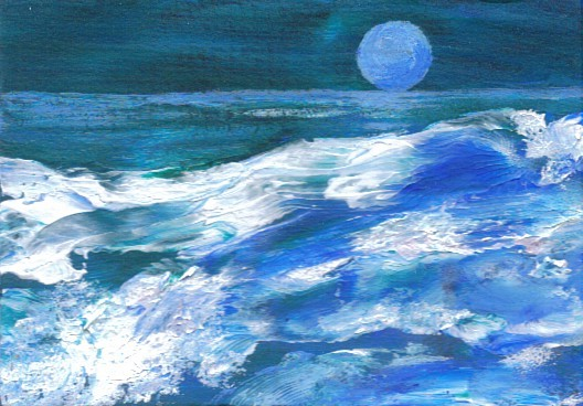 Ocean Waves Painting – Free Trading Cards – Hand Painted