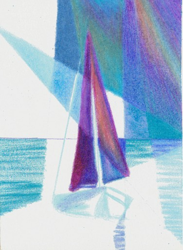Cricket Diane C Phillips - How To Paint an Abstract Ocean Sailboat Painting - 3 - from 2007