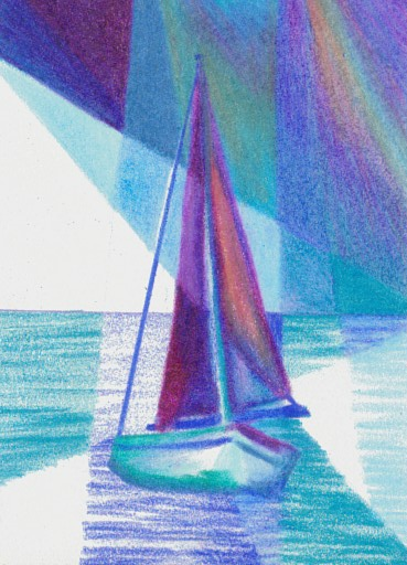 Cricket Diane C Phillips - How To Paint an Abstract Ocean Sailboat Painting - 4 - from 2007
