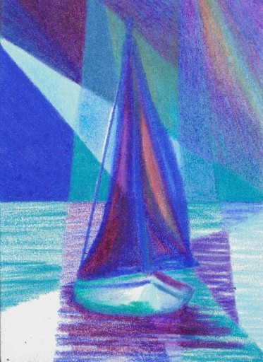 Cricket Diane C Phillips - How To Paint an Abstract Ocean Sailboat Painting - 5 - from 2007