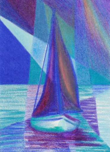 Cricket Diane C Phillips - How To Paint an Abstract Ocean Sailboat Painting - 6 - from 2007