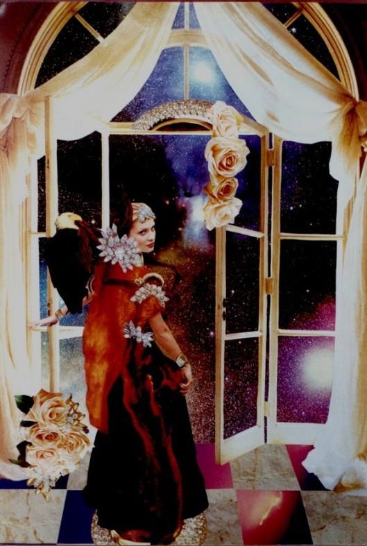 Cricket Diane C Phillips - Princess On The Threshold of the Universe - Photo Collage - 1998