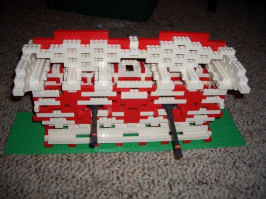 Cricket Diane Lego Battlement 2006 - - Tabletop Fortress built of Legos and Space Laser Cannons