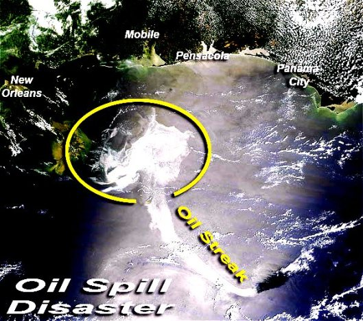 Oil Slick in the Gulf of Mexico - May 18 - 2010 (NOAA - NASA)