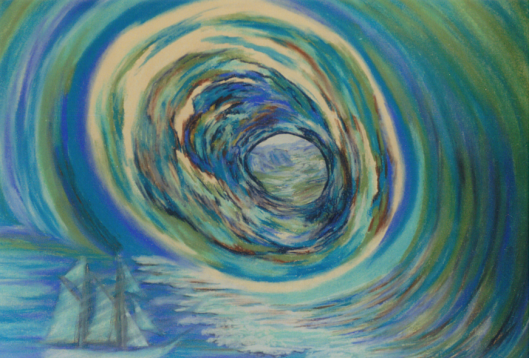"""0-cricketdiane08 - Journey To Another World - An art """"painting"""" made with artist pastels - (Nupastel hard pastels with intense pigment) - 18 x 24 - sold a long time ago"""