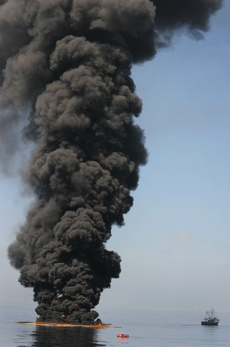 EPA tested this air as clean and no different than usual particulate matter in the Gulf of Mexico - from the oil spill in the Gulf of Mexico and in situ controlled burning over 43 days