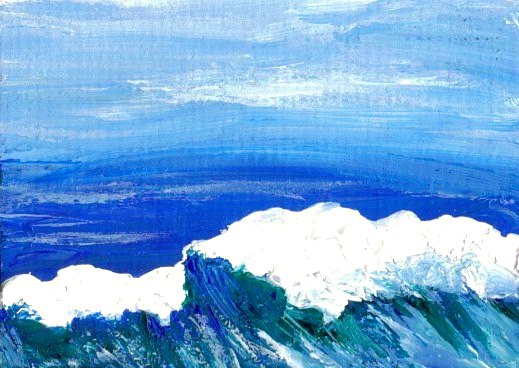 2-17-08 cricketdiane Ocean painting - synergy - cdcp08 acrylic - Baby Crickets Ocean painting from the images in my mind - 2008