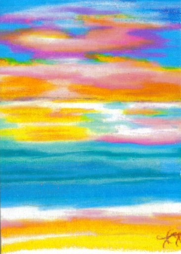 2007 - cricketdiane - summer sunset symphony - edition 2 - cdcp08 coloredpencil-bristol -1