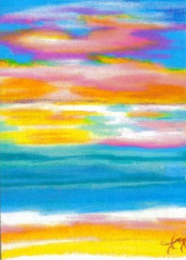 2007 - cricketdiane - summer sunset symphony - edition 2 - cdcp08 coloredpencil-bristol -1