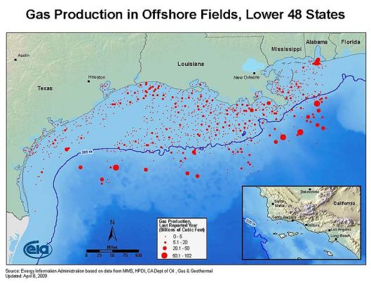 US_Gulf_of_Mexico_offshore_gas - 2009 Energy Information Administration