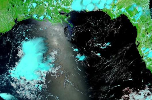 USA7.2010152.aqua.721.1km2_cr - June 1, 2010 - NASA MODIS - Gulf of Mexico oil spill (hydrocarbons / petroleum / crude oil)