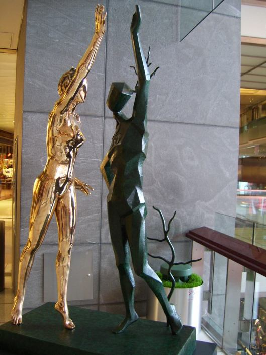 Salvadore Dali Sculptures in Time Warner Center - CricketDiane walkabout New York photo 2010