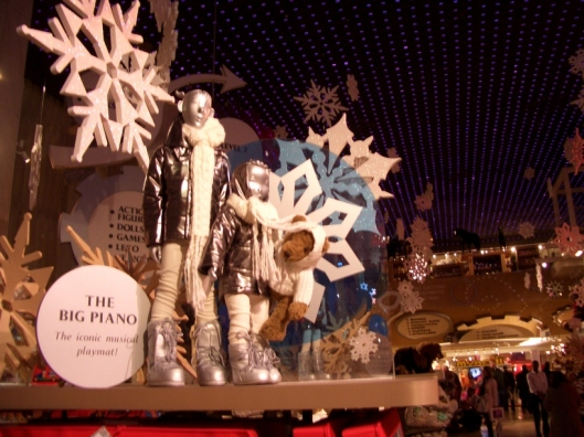 Holiday extravaganza at FAO Schwartz includes the novelty of the new and modern and high tech and toys and wonder all at the same time - cricketdiane New York City walkabout photo tour 2010.
