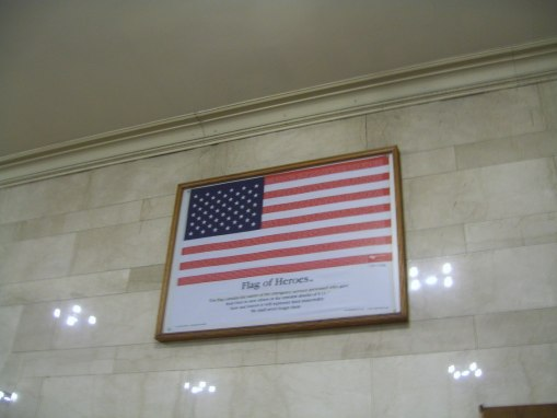 Grand Central Station Flag to America's Heroes of 9-11 Tribute - cricketdiane walkabout New York City 2010