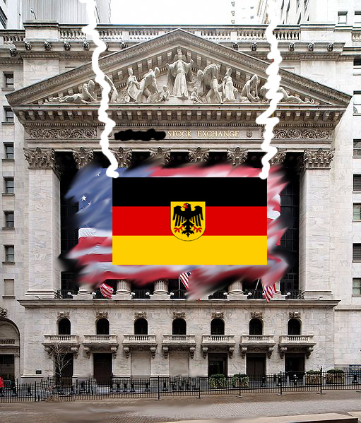 511px-NYC_NYSE-4 - photos of German flag and NYSE from wikipedia - Morphed by cricketdiane 2011