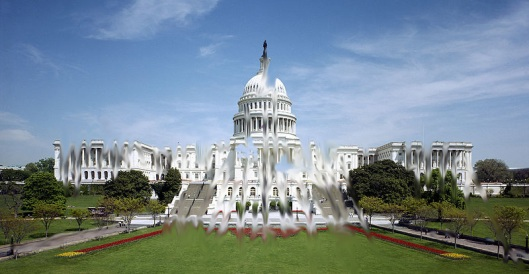 US Congress - Effects of Congressional Airheadius Maximus - photo from wikipedia - morphed by cricketdiane 2011