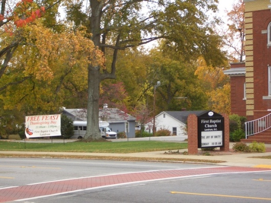 First Baptist Church of Landrum Thanksgiving Feast 2011
