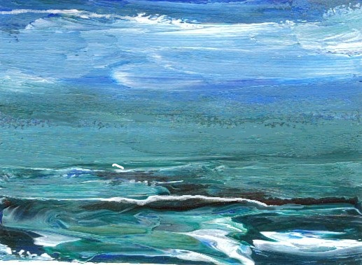 2-9-008 aceo - closeup of a wave - cdcp08 acrylic-mat -1a - CricketDiane Ocean Art