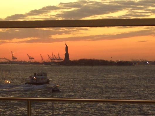 Statue of Liberty seen through Staten Island Ferry Terminal Manhattan NY - CricketDiane Photo