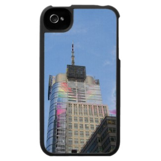 NYC Skyscraper with rainbow spectrum color effects on a cellphone cover by cricketdiane