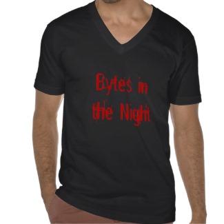Bytes in the Night Geek City Tshirt by CricketDiane